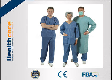 China Disponibles no tejidos friegan los trajes para los doctores Nuser With Short Sleeve del paciente proveedor