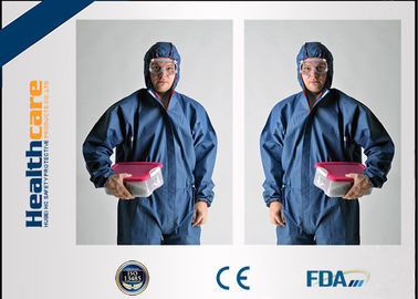 China Ropa protectora disponible del polipropileno/guardapolvos disponibles de la pintura con la capilla fábrica